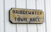 Bridgewater Town Hall sign